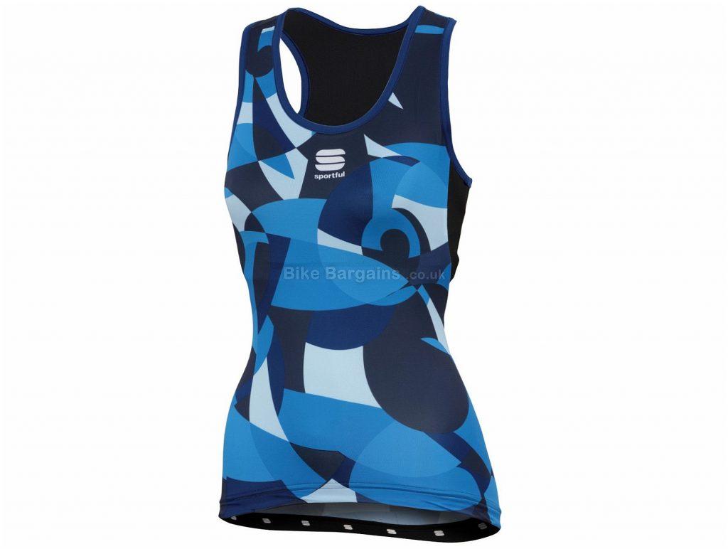 Sportful Primavera Ladies Sleeveless Jersey XS, Black, White, Blue