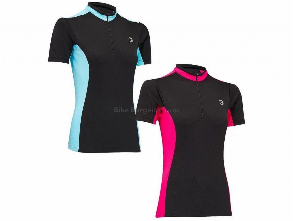 Tenn Coolflo Ladies Short Sleeve Jersey 16, Black, Pink, Blue