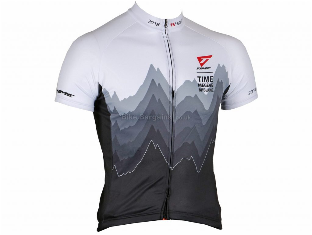 Time Maillots TMMB Short Sleeve Jersey XS, White, Grey, Black