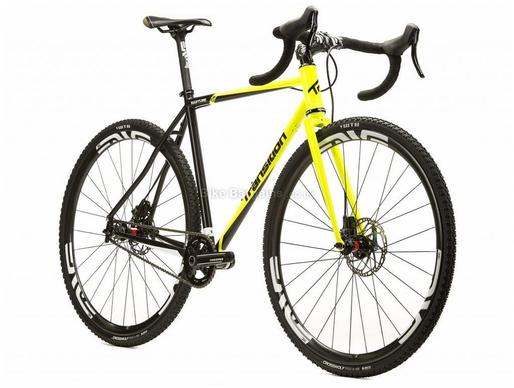 Transition Rapture Cx Steel Cyclocross Bike 2015 L, Yellow, Black, 700c, Steel, 11 speed, Disc, Single Chainring