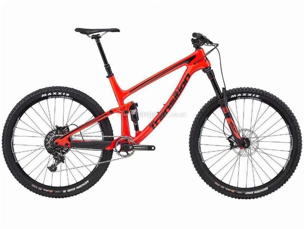 "Transition Scout Carbon Mountain Bike 2017 L, Orange, Black, 27.5"", Carbon, 11 speed, Disc, Single Chainring"