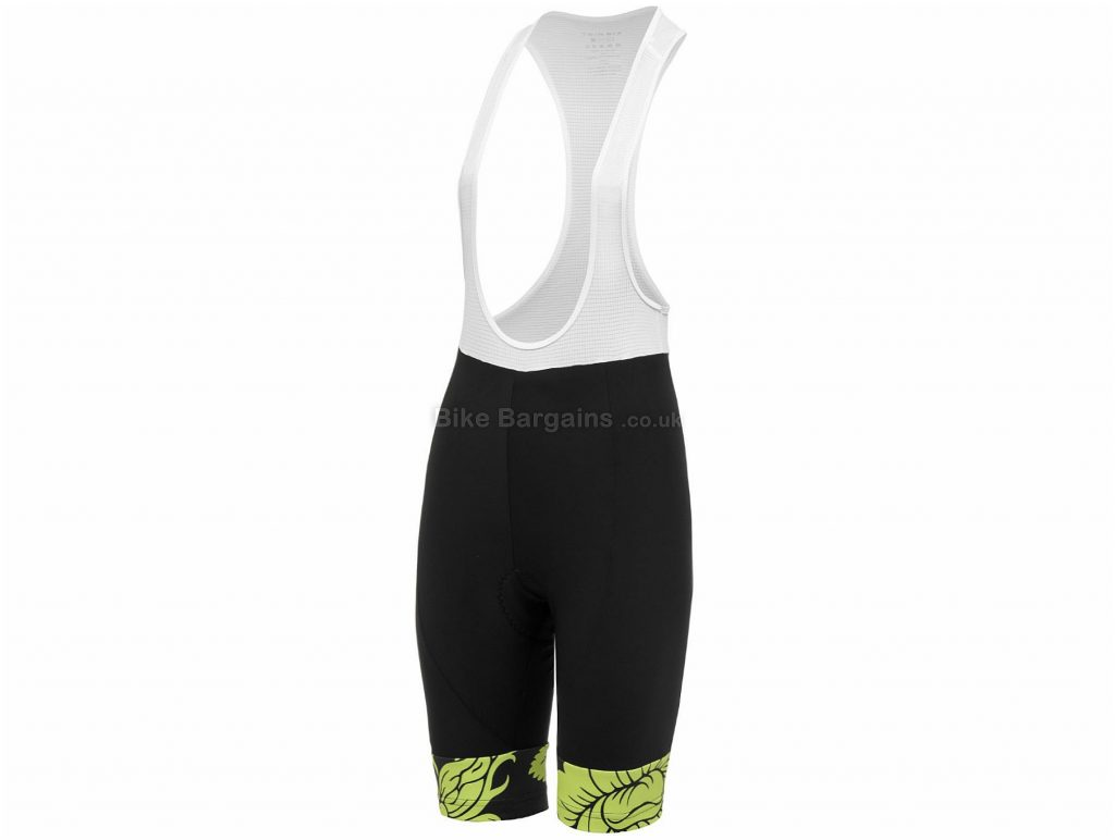 Twin Six Ladies Martyr Bib Shorts XL, Black, White, Yellow