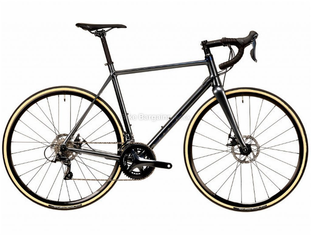Vitus Razor VR Disc Sora Alloy Road Bike 2020 S, Black, Alloy, 700c, 9 Speed, Double Chainring, Disc, 10.13kg