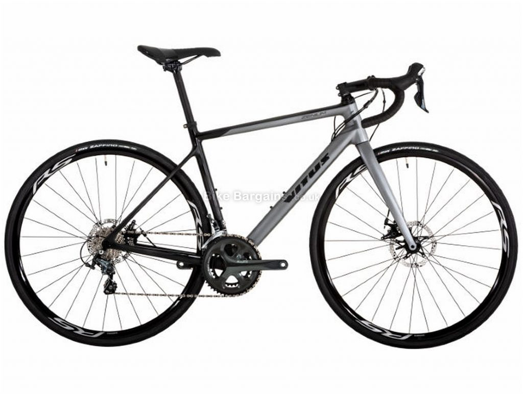 Vitus Zenium Disc Tiagra Carbon Road Bike 2019 XS, Grey, Black, Carbon, 700c, 10 Speed, Double Chainring, Disc, 9.7kg