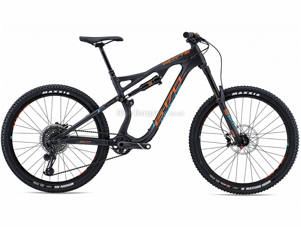"Whyte G170 C RS 27.5 Carbon Full Suspension Mountain Bike 2018 M, Grey, 27.5"", Full Suspension, 12 Speed, Disc, Single Chainring"