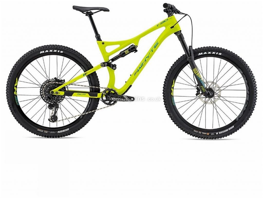 "Whyte T-130C RS Carbon Full Suspension Mountain Bike 2019 XL, Yellow, 27.5"", Full Suspension, 12 Speed, Disc, Single Chainring"