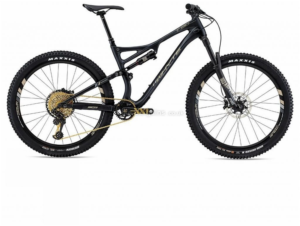 "Whyte T-130C Works Carbon Full Suspension Mountain Bike 2019 XL, Black, 27.5"", Full Suspension, 12 Speed, Disc, Single Chainring"