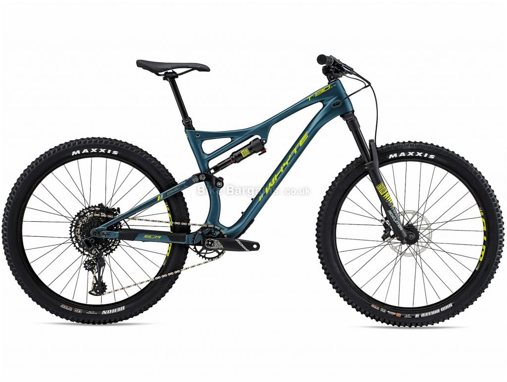 "Whyte T130 C R 27.5 Carbon Full Suspension Mountain Bike 2019 XL, Blue, 27.5"", Full Suspension, 12 Speed, Disc, Single Chainring"