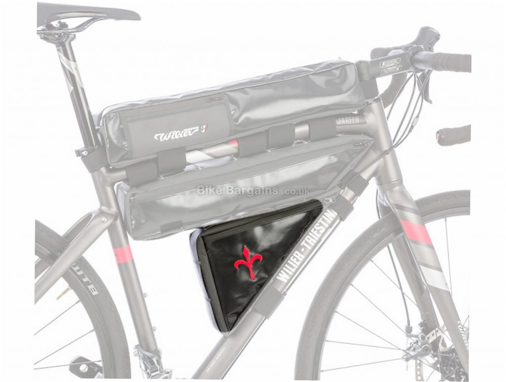 Wilier Adventure Triangle Frame Bag Black, 1.5 Litres, 33cm, 33cm, 20cm