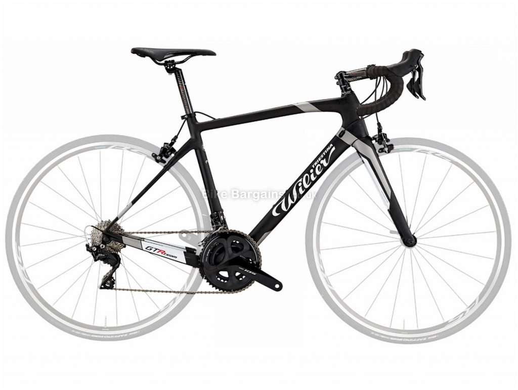 Wilier GTR Team 105 Carbon Road Bike without wheels XS, Black, Red - No wheels included!, 700c, Carbon, 11 Speed, Double Chainring, Caliper Brakes