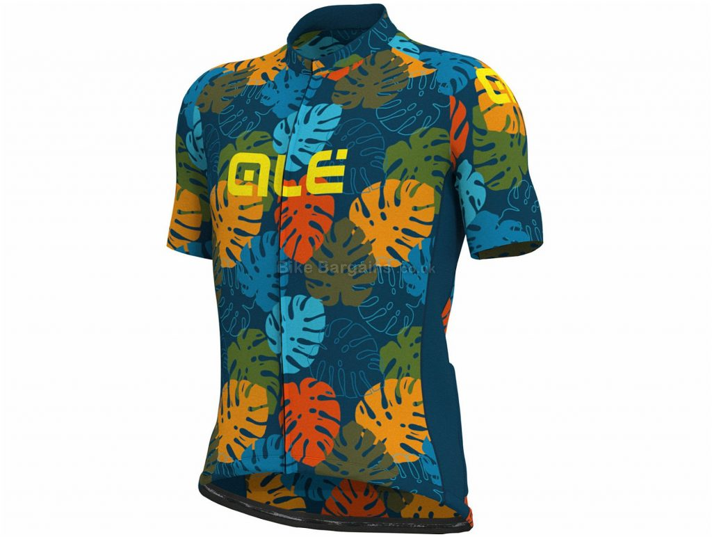 Ale Cheese Plant Short Sleeve Jersey XL, Blue, Green, Men's, Short Sleeve, Polyester