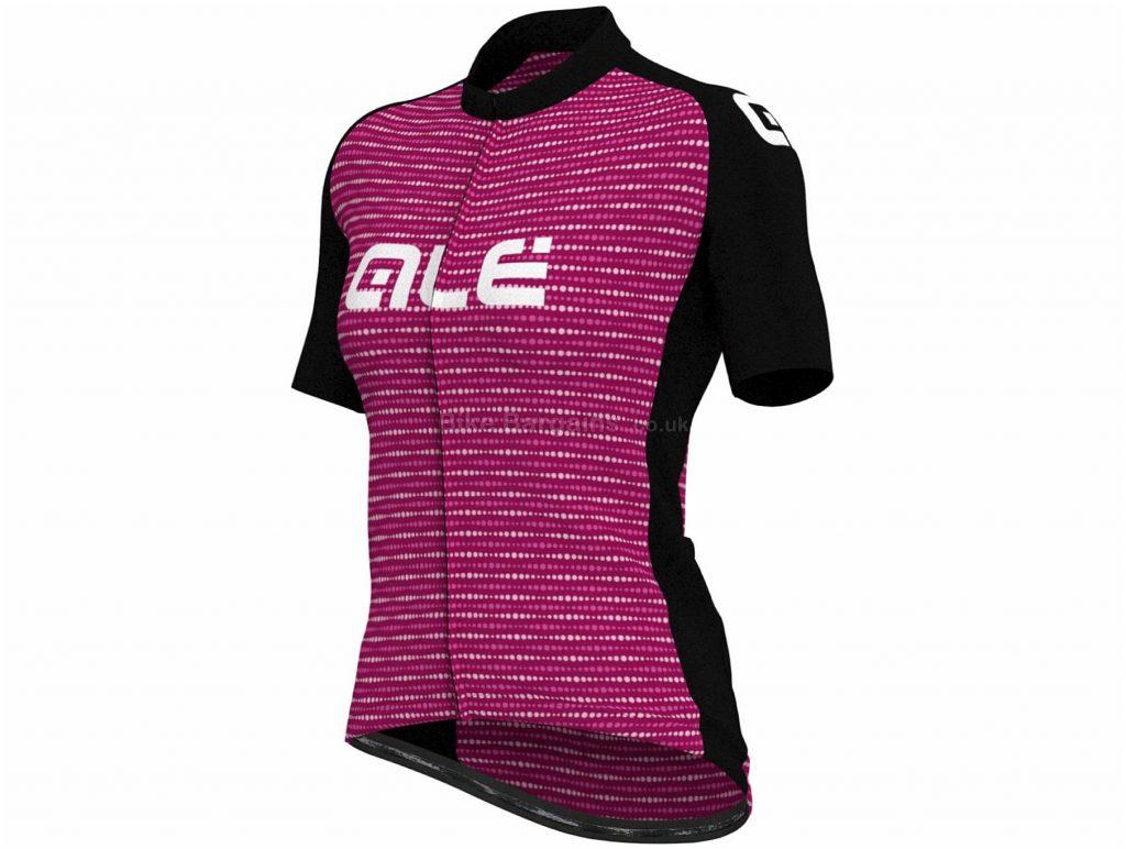 Ale Ladies Digi Stripe Short Sleeve Jersey M,L, Purple, Black, Ladies, Short Sleeve, Polyester