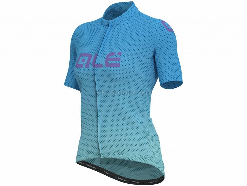 Ale Ladies Fading Dots Short Sleeve Jersey M,L, Blue