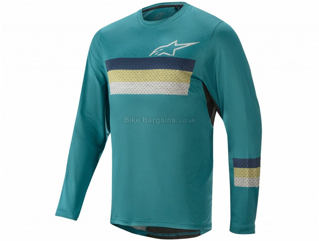 Alpinestars Alps 6.0 Long Sleeve Jersey S, Green, Men's, Long Sleeve, Polyester, Elastane