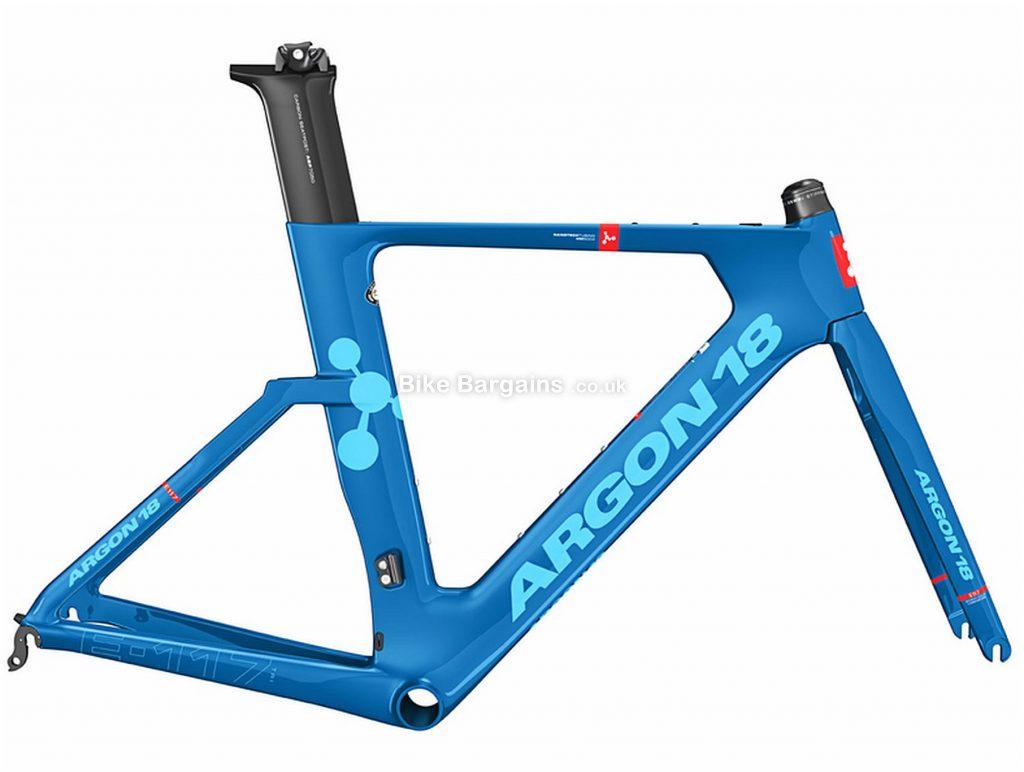 Argon 18 E-117 Tri Carbon Frame 2018 S, Blue, Caliper Brakes, Carbon