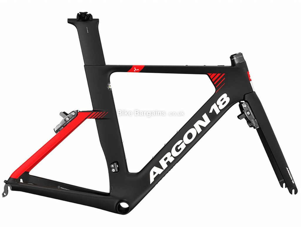 Argon 18 E-117 Tri Carbon Frame 2020 M,L,XL, Black, Red, Caliper Brakes, Carbon