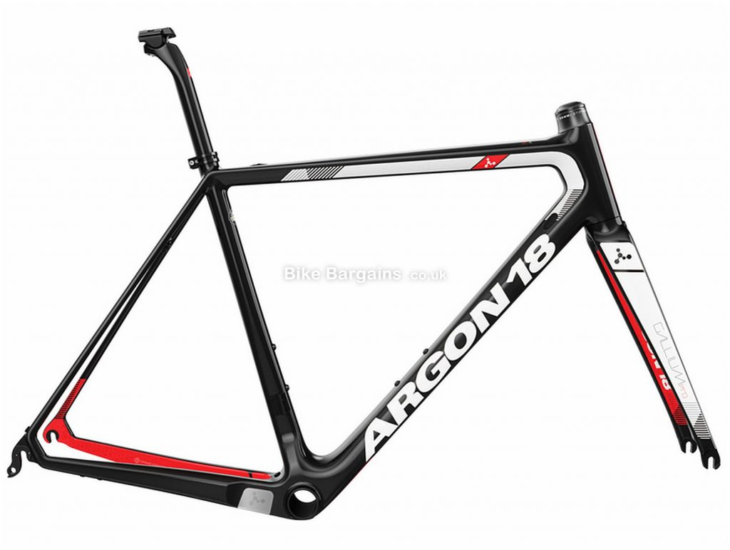 Argon 18 Gallium Pro Carbon Frame 2019 M, Black, White, Red, Caliper Brakes, Carbon
