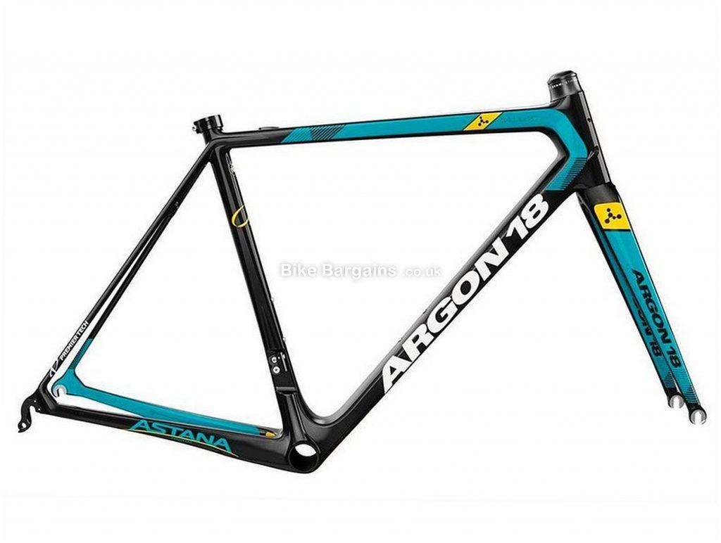 Argon 18 Gallium Pro Team Astana Carbon Frame 2018 L, Black, Turquoise, Yellow, Caliper Brakes, Carbon