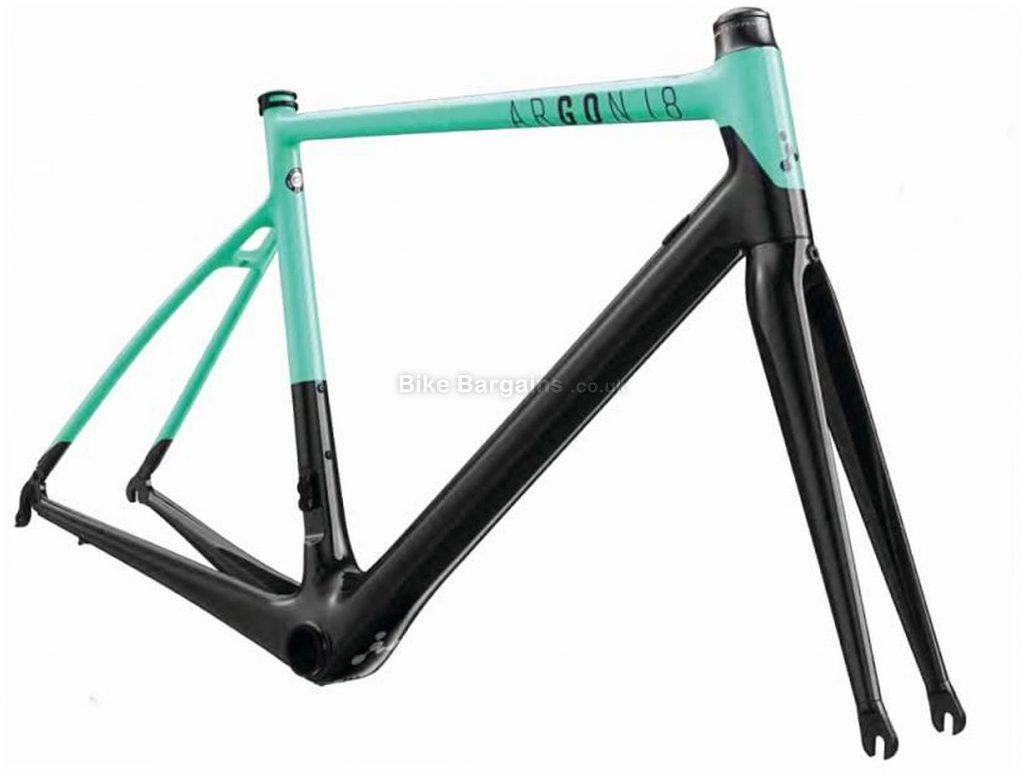 Argon 18 Go Carbon Frame 2018 S, Black, Turquoise, Caliper Brakes, Carbon
