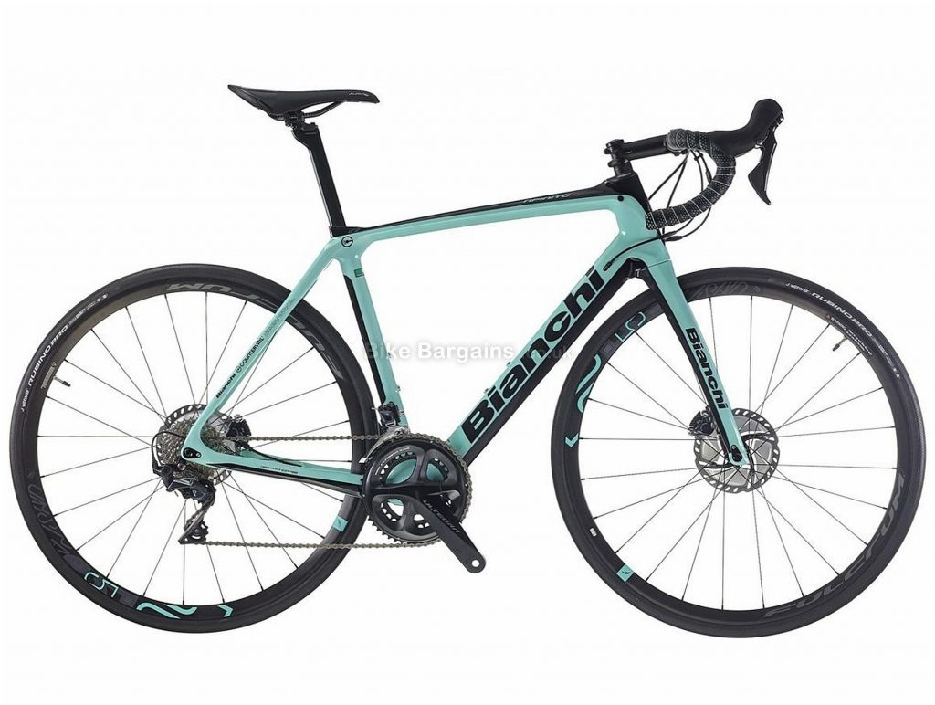 Bianchi Infinito CV Disc 105 Carbon Road Bike 2019 55cm, Turquoise, Black, Carbon, 700c, Disc, 11 Speed, Double Chainring
