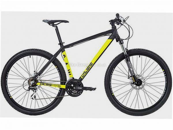 "Calibre Saw Alloy Hardtail Mountain Bike S, Black, Yellow, Alloy, 27.5"", 21 Speed, Disc, Triple Chainring, 14kg"