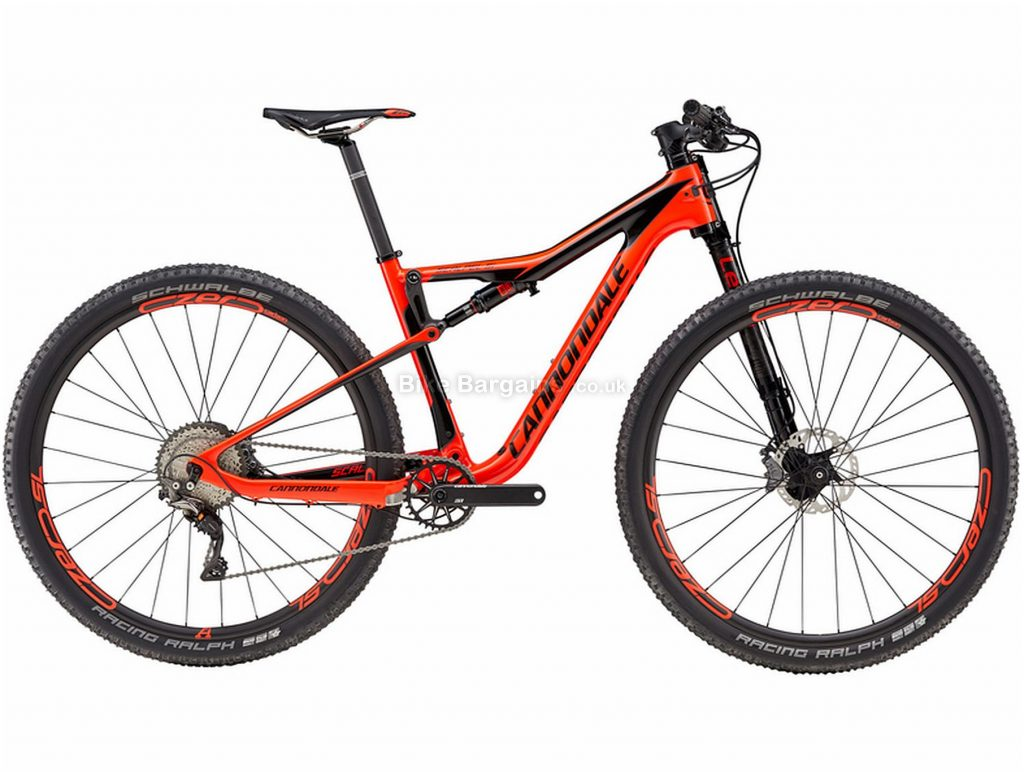 Cannondale Scalpel Si Hi-mod 1 Carbon Full Suspension Mountain Bike 2018 M, Black, Orange, Carbon, 11 Speed, Single Chainring, Disc, 29""