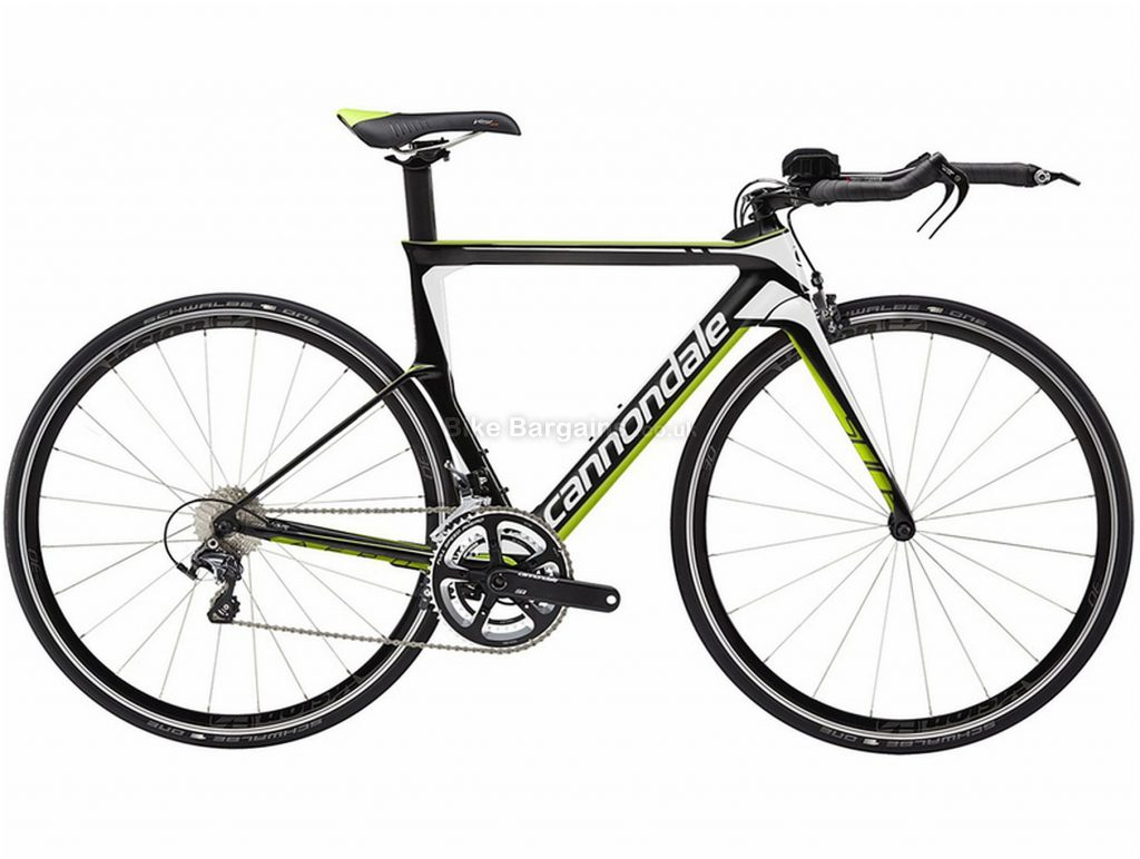 Cannondale Slice Ultegra Carbon Road Bike 44cm, Black, Green, Carbon, 11 Speed, Double Chainring, Caliper brakes, 700c
