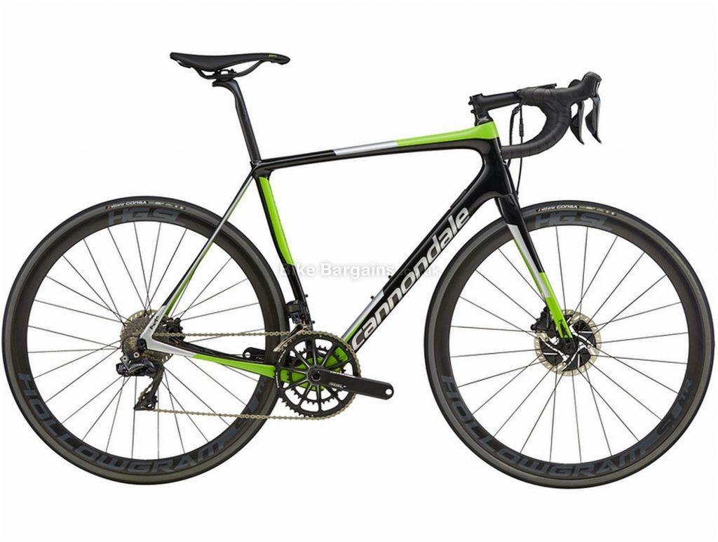 Cannondale Synapse Hi-mod Disc Dura-Ace Di2 Carbon Road Bike 2018 56cm, Black, Green, Carbon, 11 Speed, Double Chainring, Disc, 700c
