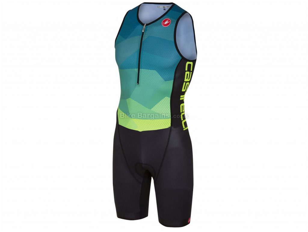 Castelli Core Tri Suit S, Black, Polyamide, Elastane, 196g, Short Sleeve