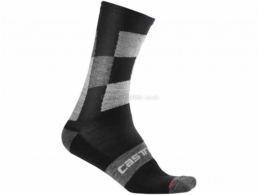 Castelli Diverso 2 18 Socks S,M, Black, Merino, Wool, Elastane, Polyamide