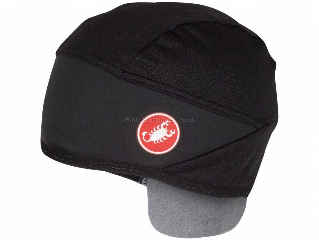Castelli Estremo Skully Hat One Size, Black, Polyester