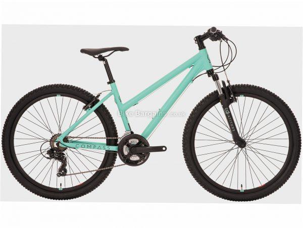 "Compass Ladies Latitude Alloy Hardtail Mountain Bike S,M, Green, Alloy, 26"", 21 Speed, Caliper Brakes, Triple Chainring"