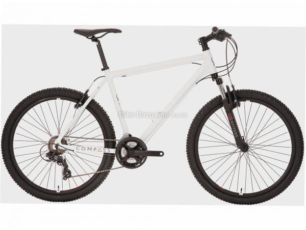 "Compass Latitude Alloy Hardtail Mountain Bike M, White, Alloy, 26"", 21 Speed, Caliper Brakes, Triple Chainring"