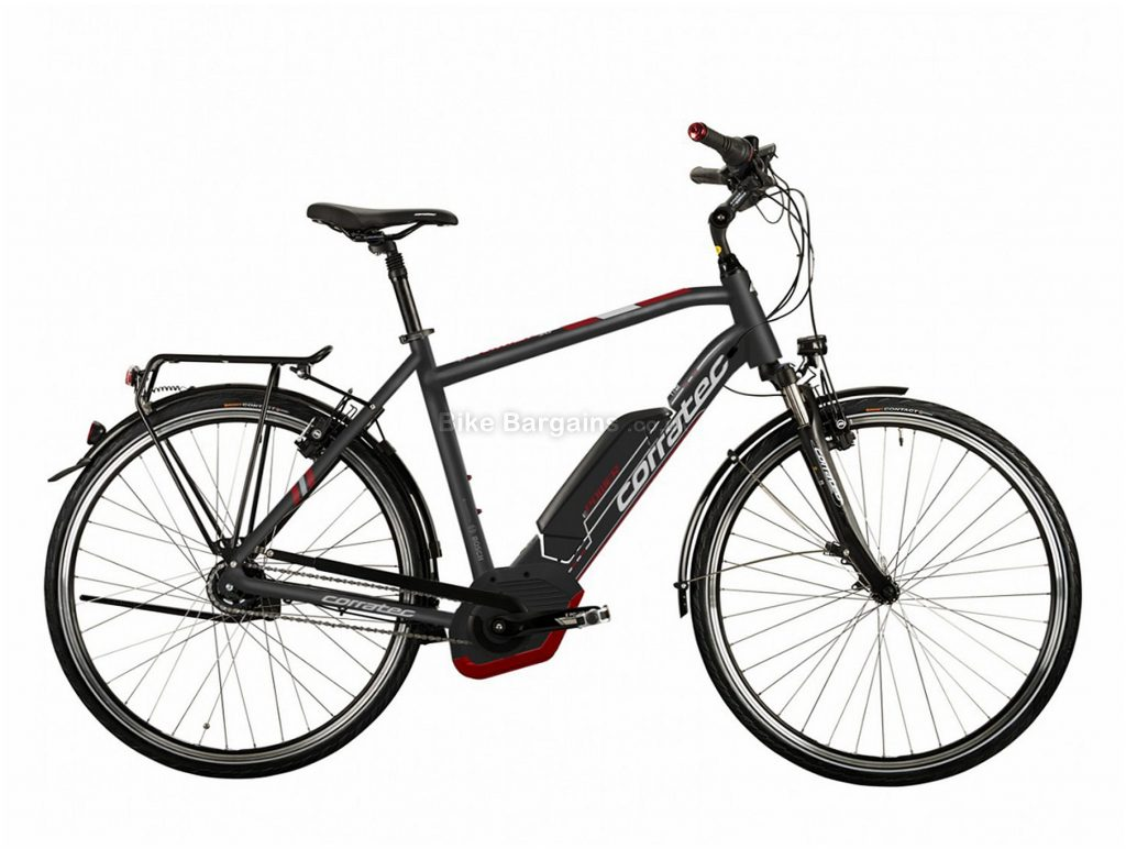 Corratec E-Power 28 Active 8 Coaster 500W Bosch Alloy Hybrid E-Bike 51cm, Black, Brown, Alloy, 8 Speed, Single Chainring, Caliper brakes, 700c
