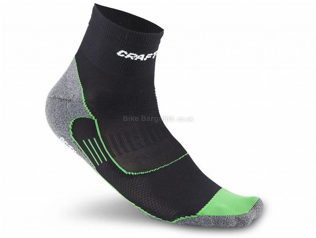Craft Active Bike Socks S,M, Black, Green