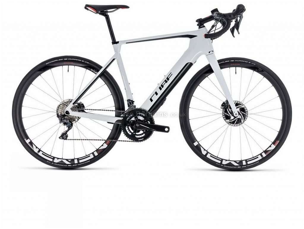 Cube Agree C:62 SL Disc Hybrid Electric Bike 2019 56cm, White, Black, Carbon, 700c, Disc, Double Chainring, 11 Speed,