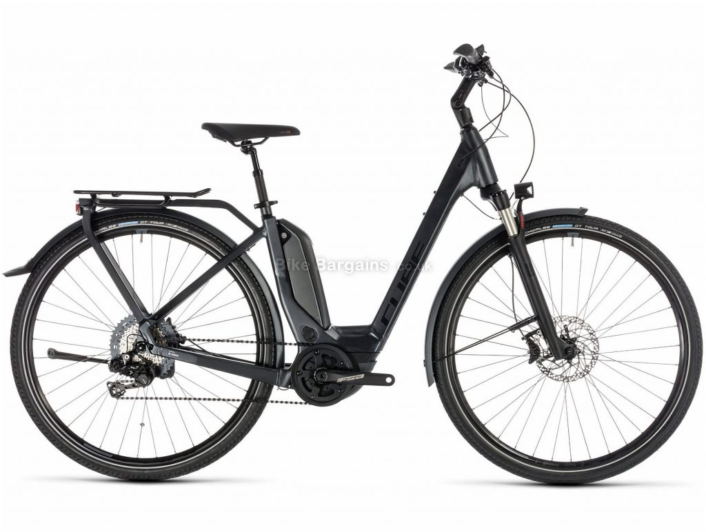 Cube Touring Hybrid SL 500 Ladies Alloy E-Bike 2019 54cm, Black, Alloy, 700c, 22.6kg, Disc, 11 Speed, Single Chainring