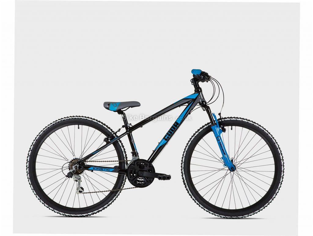 "Cuda Kinetic 26"" Kids Alloy Mountain Bike One Size, Black, Blue, Alloy, 13.5kg, 6 Speed, Triple Chainring, Caliper brakes, 26"""