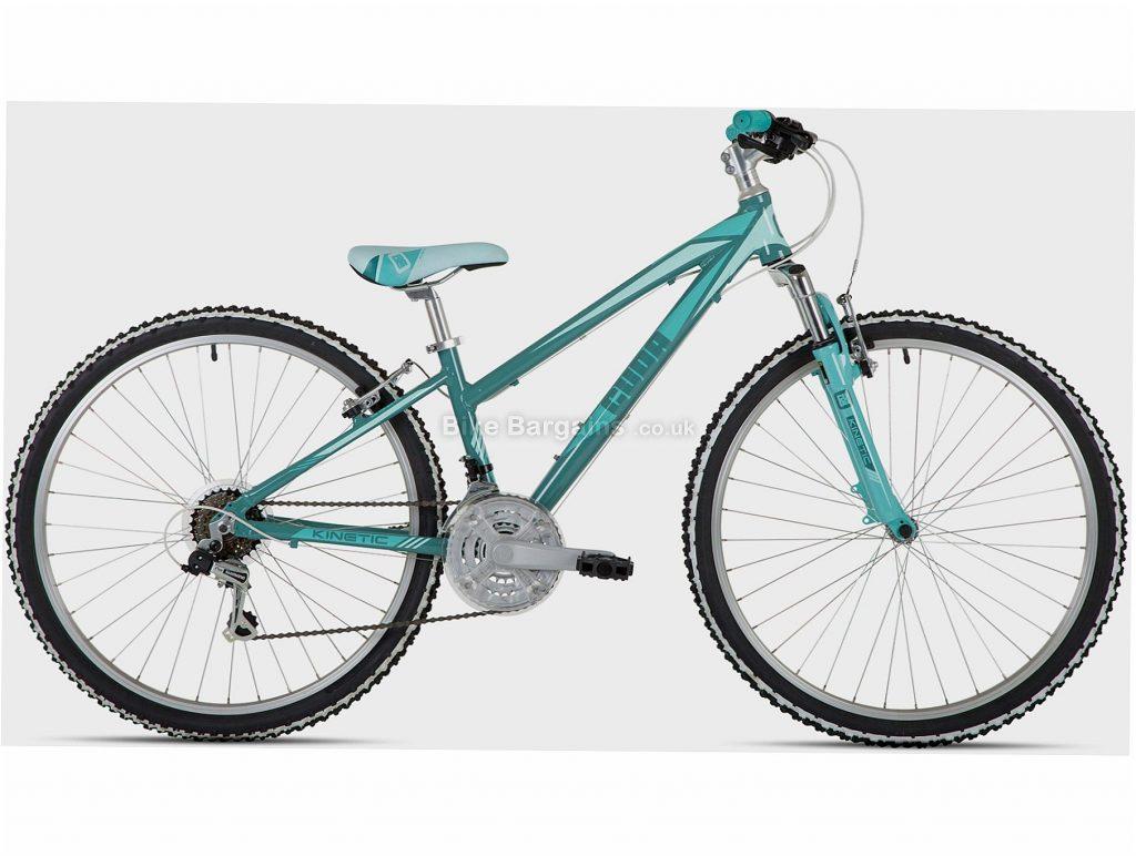 "Cuda Kinetic 26"" Kids Alloy Mountain Bike One Size, Turquoise, Alloy, 13.5kg, 6 Speed, Triple Chainring, Caliper brakes, 26"""