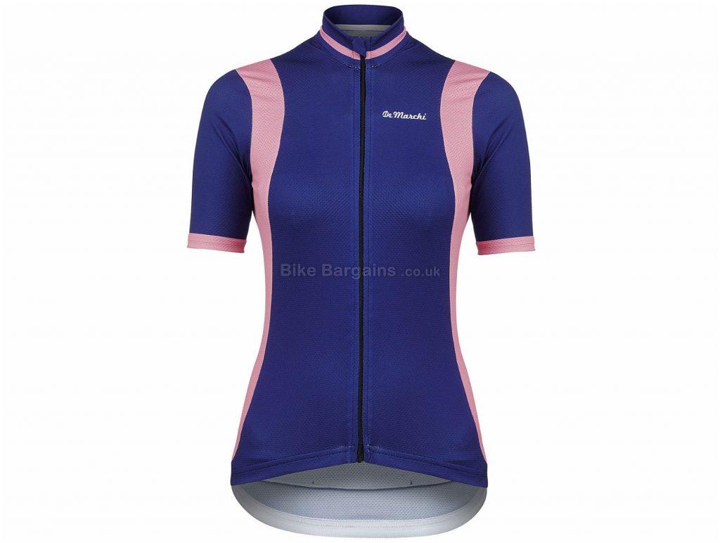 De Marchi Ladies Granturismo Short Sleeve Jersey L, Blue, Pink, Ladies, Short Sleeve, Polyester