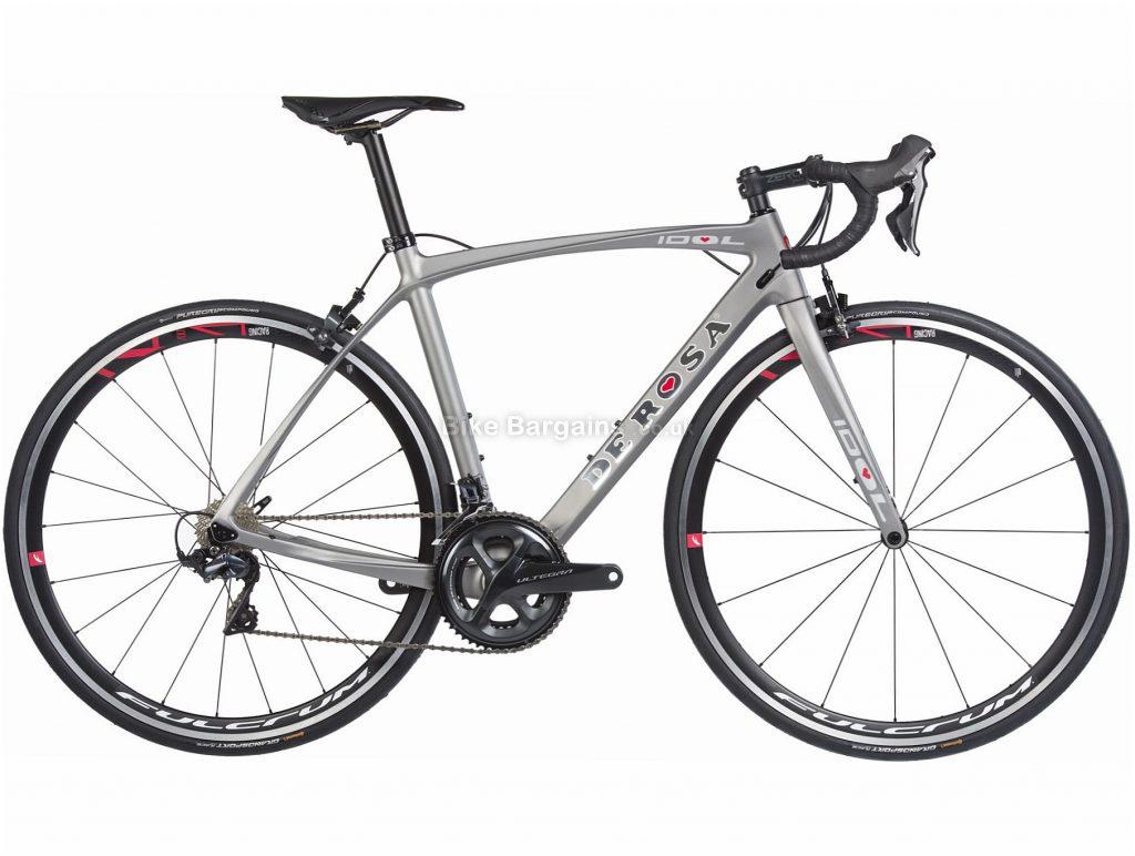 De Rosa Idol R8000 Ultegra Carbon Road Bike 2019 49cm, Silver, Carbon, Double Chainring, Caliper Brakes, 11 Speed, 700c