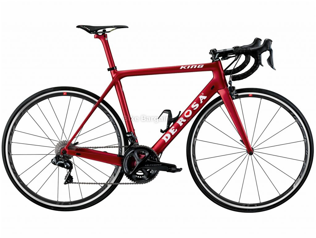 De Rosa King R8000 Ultegra Carbon Road Bike 2019 51cm, Red, Carbon, Double Chainring, Caliper Brakes, 11 Speed, 700c