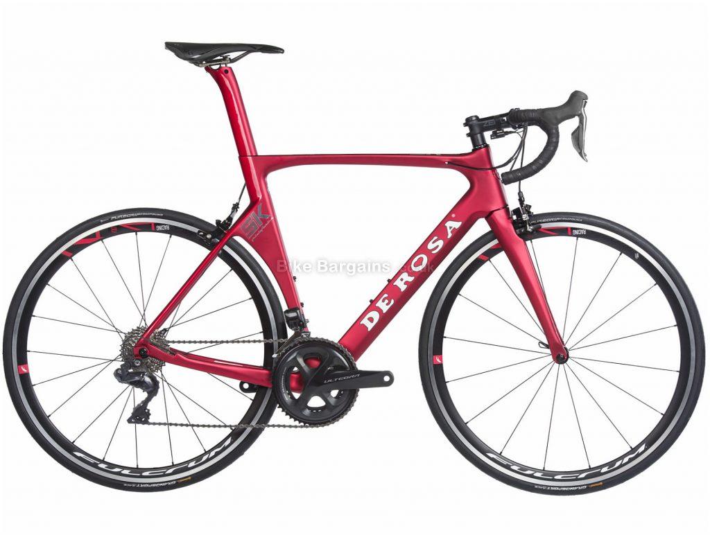 De Rosa SK R8050 Ultegra Carbon Road Bike 2019 50cm, 52cm, Red, Carbon, Double Chainring, Caliper Brakes, 11 Speed, 700c