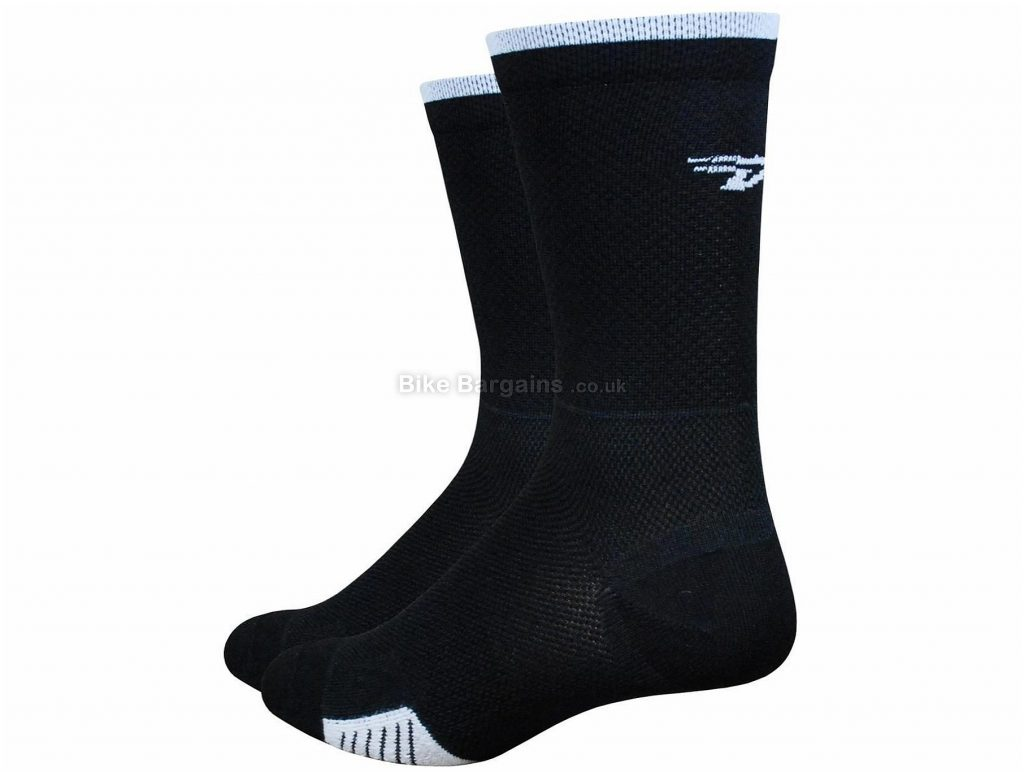 "Defeet Cyclismo 5"" Socks S, Black, White"