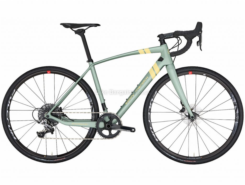 Eddy Merckx Strasbourg 71 Rival 1 Disc Carbon Gravel Bike 2019 M, Green, Carbon, Single Chainring, Disc, 11 Speed, 700c