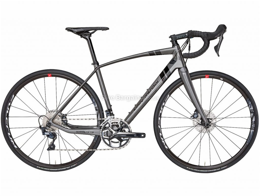Eddy Merckx Wallers 73 Ultegra Disc Carbon Road Bike 2019 S, Grey, Black, Carbon, Double Chainring, Disc, 11 Speed, 700c