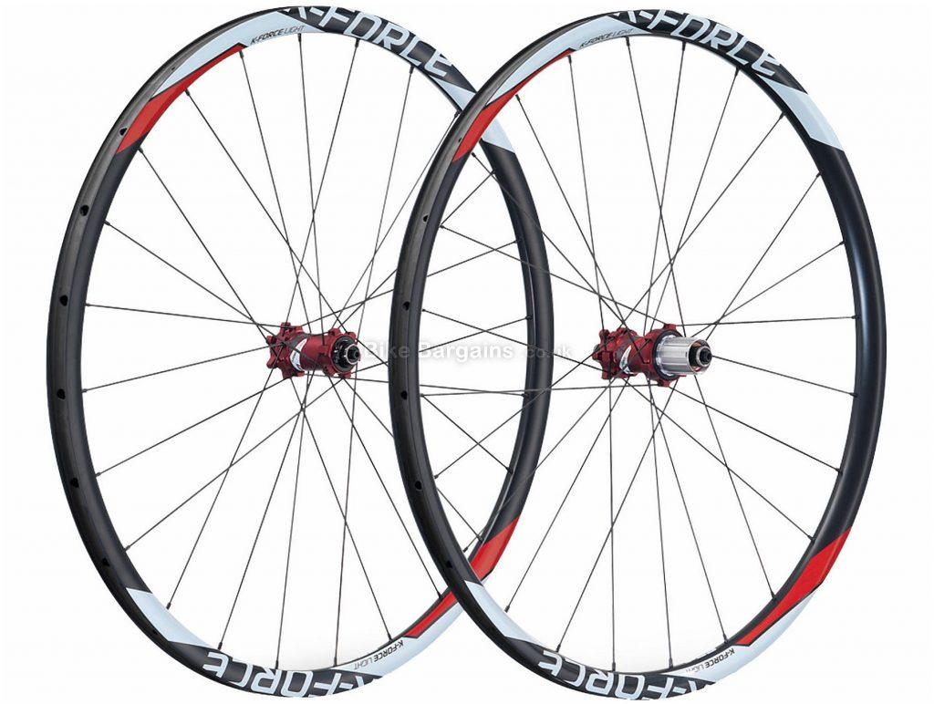 "FSA K-Force 27.5"" Carbon MTB Wheels 29"", Black, Red, Pair, Carbon, Disc, Pair,"