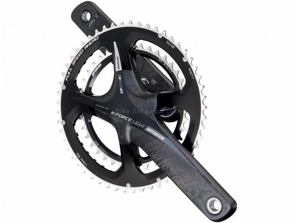 FSA K-Force 386Evo 11 Speed Double Chainset 177.5mm, Grey, Black