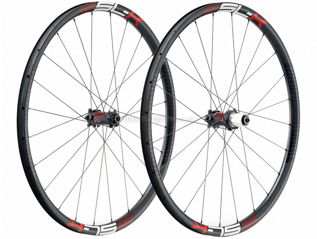 "FSA SL-K 27.5"" Carbon MTB Wheels 27.5"", Black, Red, Pair, Carbon, 9 Speed, 10 Speed, 11 Speed, Disc, Pair, 1.5kg"