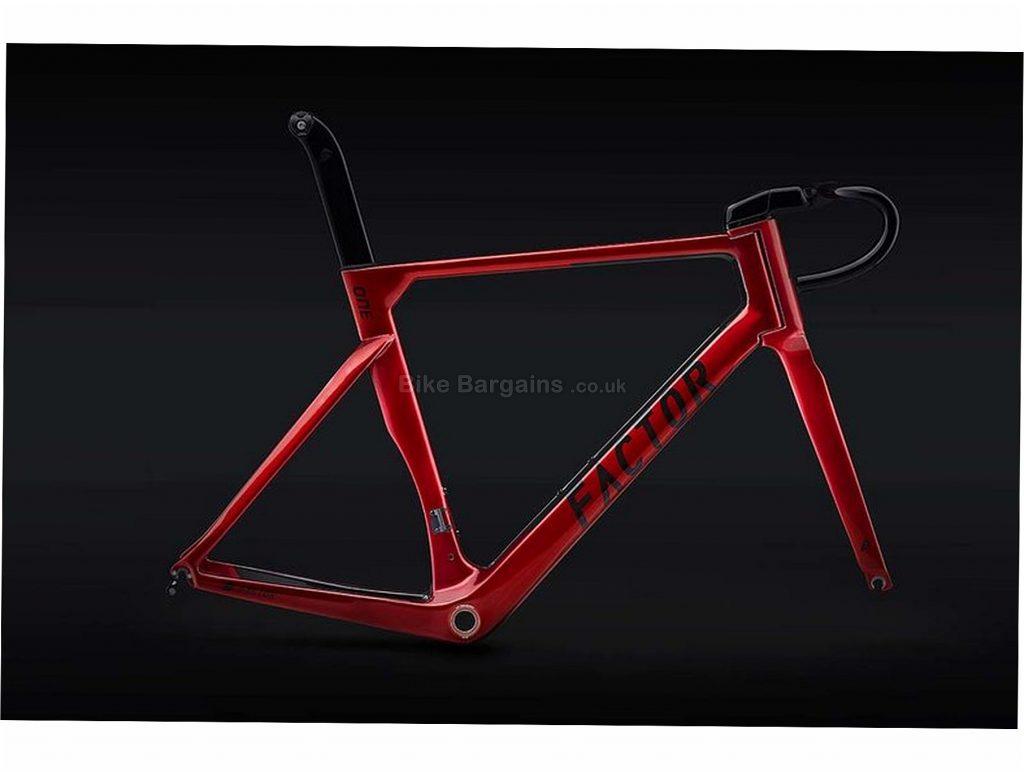 Factor One V2 Carbon Frame 56cm, Red, Caliper Brakes, Carbon
